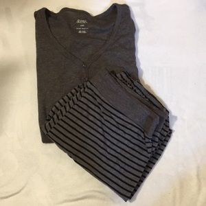 Women's grey and black pajama set  - medium - NWOT